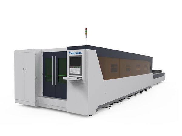 معالجة المعادن الصناعية آلة القطع بالليزر كامل 1000W نوع المغطاة