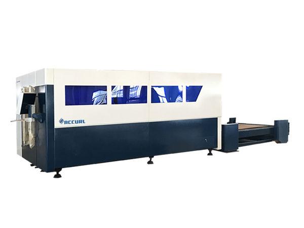 منصة واحدة cnc الألياف آلة القطع بالليزر ، ورقة القاطع المعدنية
