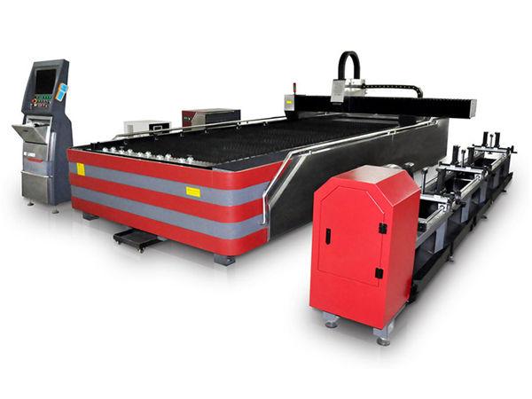 المغلقة نوع التصنيع باستخدام الحاسب الآلي الألياف آلة القطع بالليزر 500W / 1000W قوة عالية