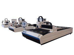 عالية الدقة الألياف الليزر آلة قطع المحرك الخطي المزدوج للوحة معدنية