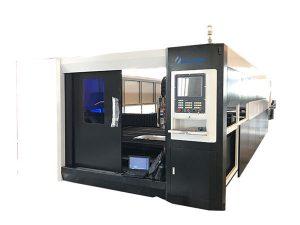 الصفائح المعدنية الفولاذ المقاوم للصدأ الألياف الليزر آلة قطع 1000W عالية الدقة